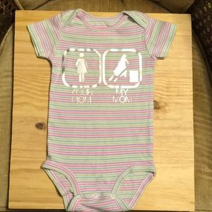 9-12 month onesie your mom my mom barrel racer.